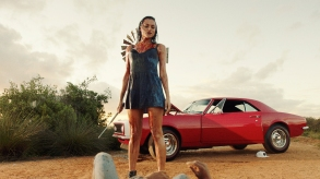 """BLOOD DRIVE -- """"The Fucking Cop"""" Episode 101 -- Pictured: Christina Ochoa as Grace -- (Photo by: Syfy)"""