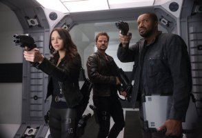 "DARK MATTER -- ""It Doesn't Have To Be Like This"" Episode 302 -- Pictured: (l-r) Melissa O'Neil as Two, Anthony Lemke as Three, Roger Cross as Six -- (Photo by: Stephen Scott/Dark Matter Series 3/Syfy)"