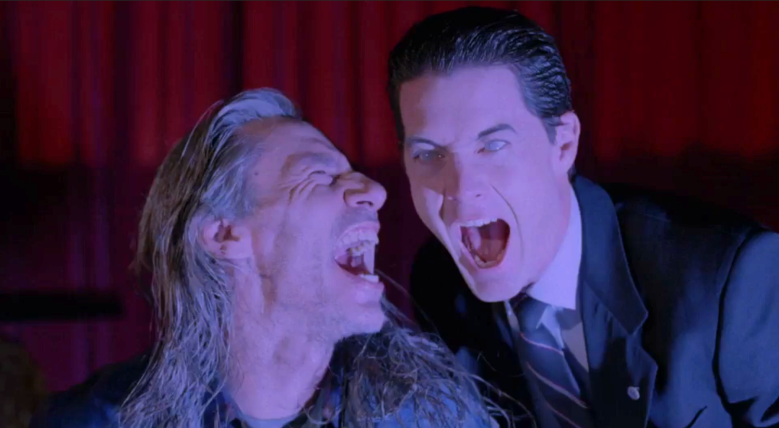 "Frank Silva and Kyle MacLachlan, ""Twin Peaks"""