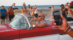 Fate of the furious cuba the rock