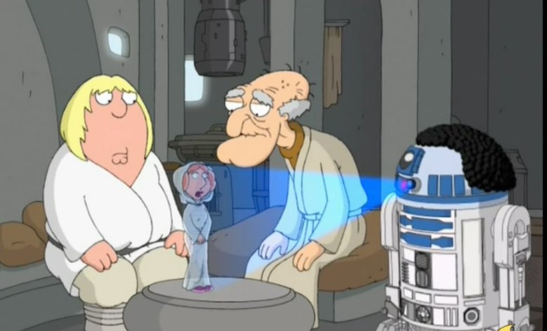 "2007 ""Family Guy"" Star Wars spoof ""Blue Harvest"""