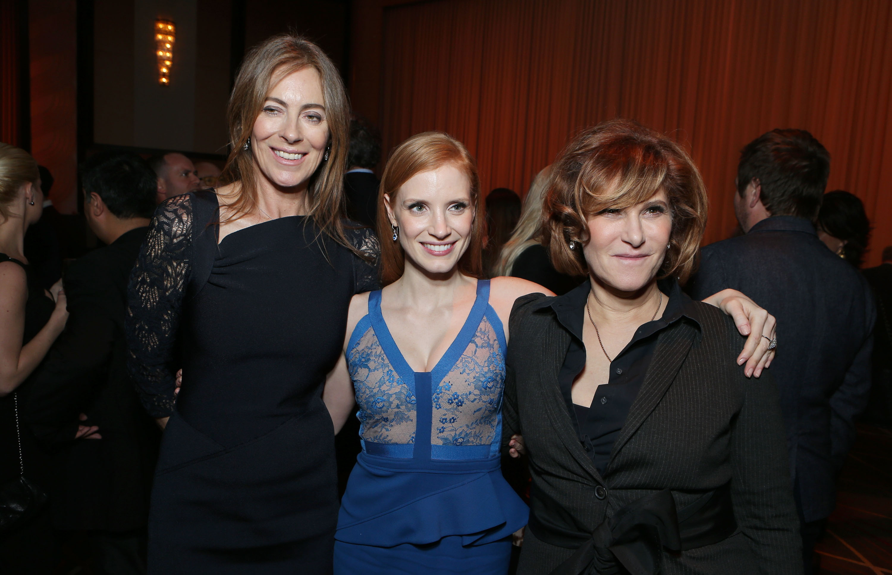HOLLYWOOD, CA - DECEMBER 10: Director/Producer Kathryn Bigelow, Jessica Chastain and Sony's Amy Pascal at Columbia Pictures 'Zero Dark Thirty' Premiere at Dolby Theatre on December 10, 2012 in Hollywood, California. Kathryn Bigelow Jessica Chastain Amy PascalColumbia Pictures 'Zero Dark Thirty' Premiere Hollywood Los Angeles, America.