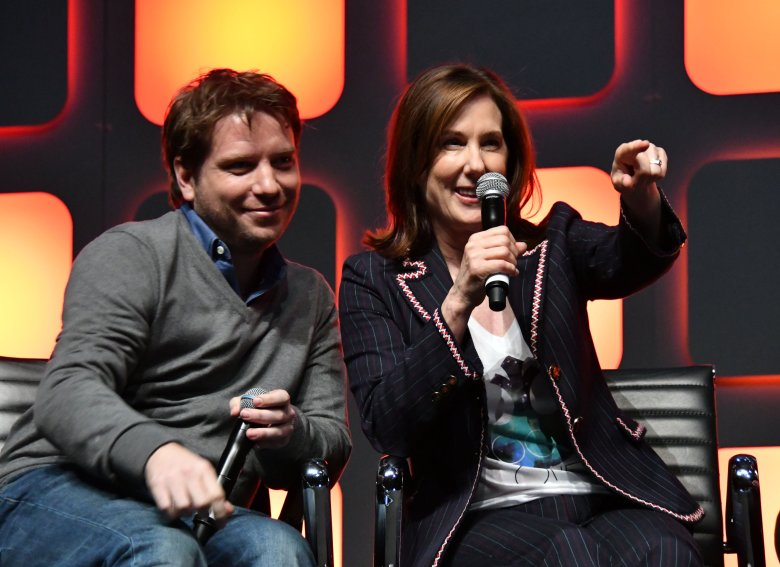Gareth Edwards, Kathleen KennedyStar Wars Celebration Europe 2016, London, UK - 15 Jul 2016Star Wars Celebration Europe 2016, the official Lucasfilm event celebrating all things Star Wars, produced by fans for fans, at Excel, London.