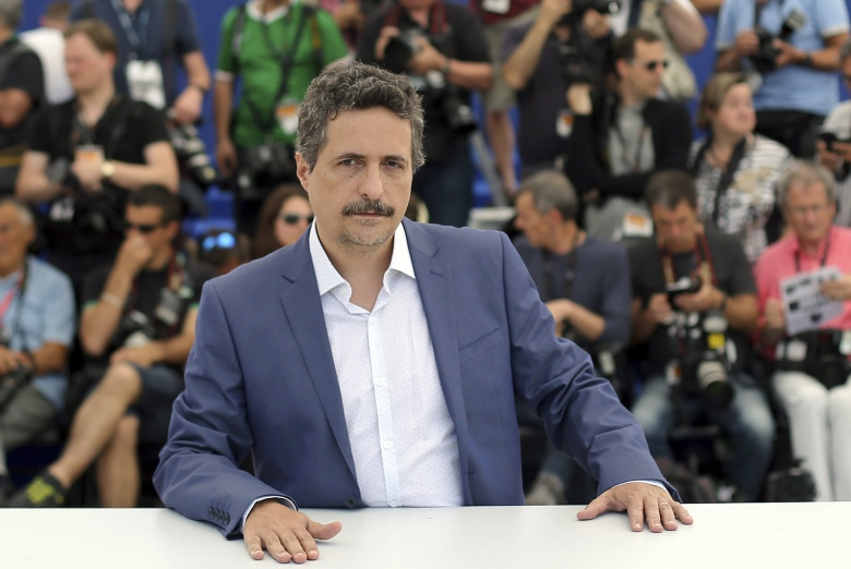 Director Kleber Mendonca Filho poses for photographers during a photo call for the film Aquarius at the 69th international film festival, Cannes, southern FranceFrance Cannes Aquarius Photo Call, Cannes, France
