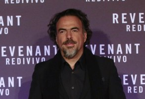 Director Alejandro González Iñárritu poses for the photographers as he arrives for the screening of his movie The Revenant in RomeItaly The Revenant Red Carpet, Rome, Italy