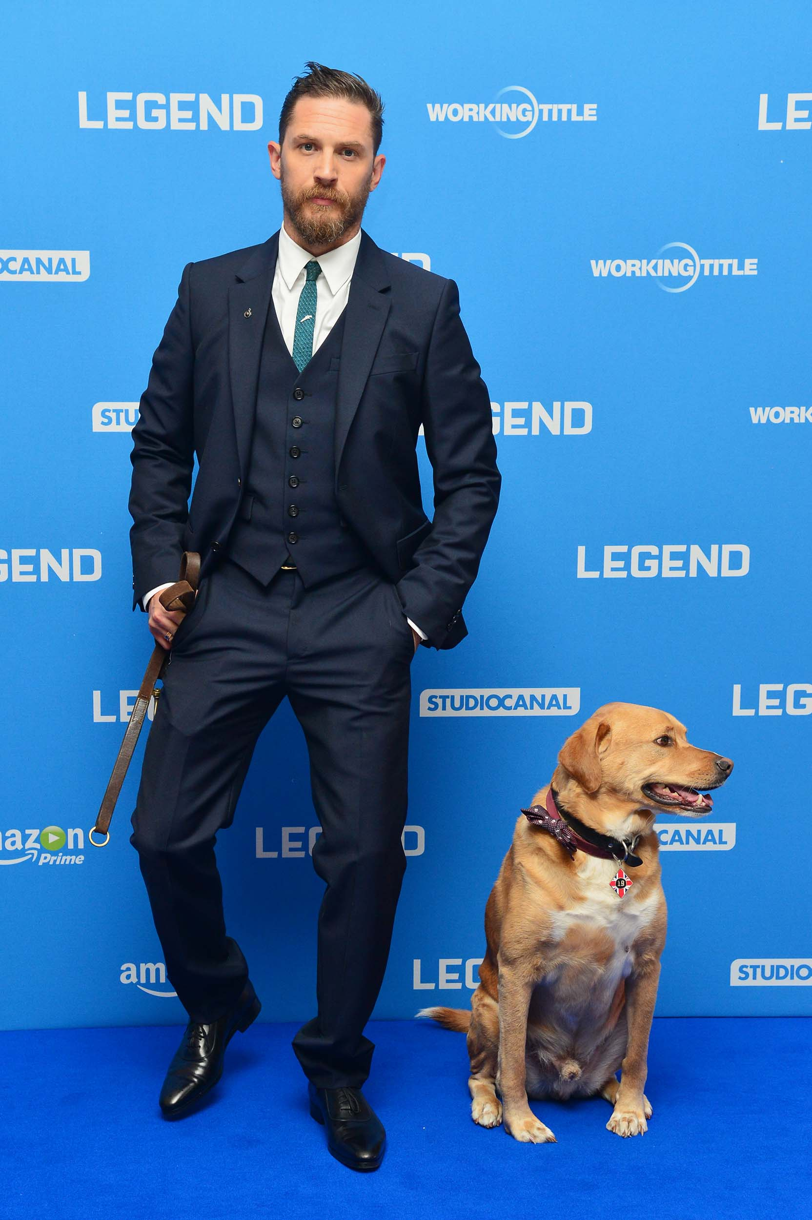 'Legend World Premiere' at the Odeon Leicester Square Tom Hardy and His Dog Woody'Legend' World Premiere - 03 Sep 2015