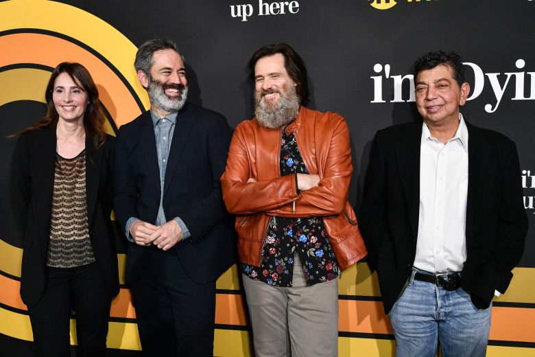 Christina Wayne, Michael Aguilar, Jim Carrey and Dave Flebotte'I'm Dying Up Here' TV show premiere, Arrivals, Los Angeles, USA - 31 May 2017