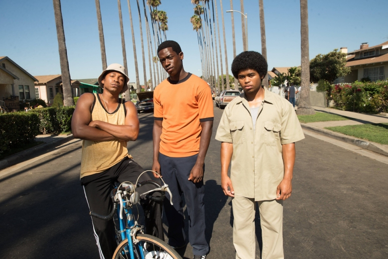 "SNOWFALL ""Pilot"" Season 1, Episode 1 (Series Premiere, Airs Wednesday, July 5, 10:00 pm/ep) -- Pictured: (l-r) Malcolm Mays as Kevin, Damson Idris as Franklin, Isaiah John as Leon"