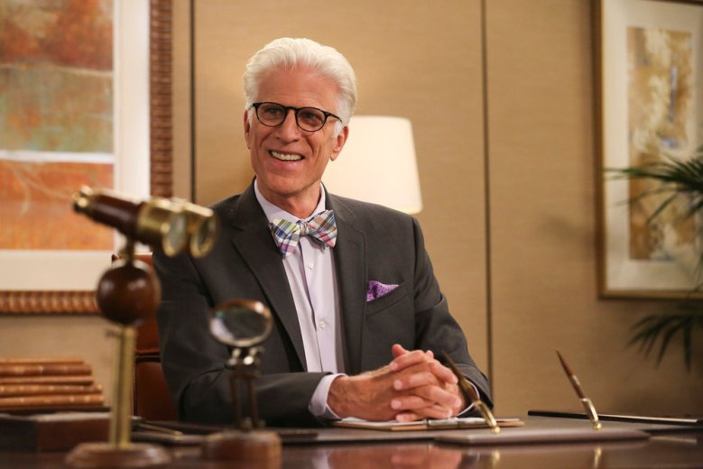 "THE GOOD PLACE -- ""Michael's Gambit"" Episode 113 -- Pictured: Ted Danson as Michael -- (Photo by: Vivian Zink/NBC)"