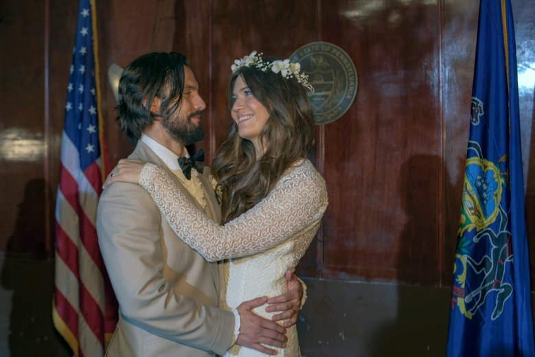 "THIS IS US -- ""I Call Marriage"" Episode 114 -- Pictured: (l-r) Milo Ventimiglia as Jack Pearson, Mandy Moore as Rebecca Pearson -- (Photo by: Ron Batzdorff/NBC)"