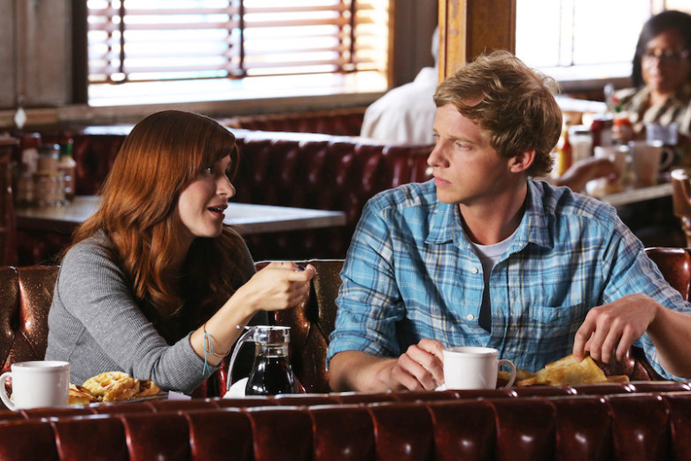 "YOU'RE THE WORST -- ""PTSD"" -- Episode 106 (Airs Thursday, August 21, 10:30 pm e/p) -- Pictured: (L-R) Aya Cash as Gretchen Cutler, Chris Geere as Jimmy Shive-Overly -- CR: Byron Cohen/FX"