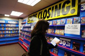 Blockbuster video rental store closing down Reading 2013VARIOUS