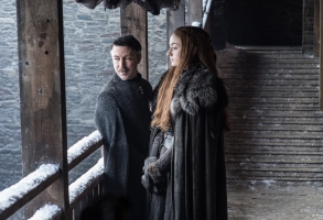 """Aidan Gillen and Sophie Turner, """"Game of Thrones"""""""