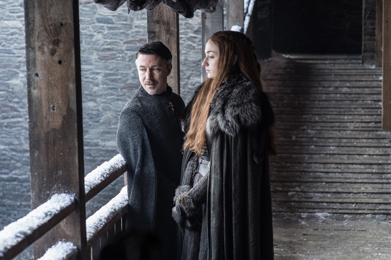 "Aidan Gillen and Sophie Turner, ""Game of Thrones"""