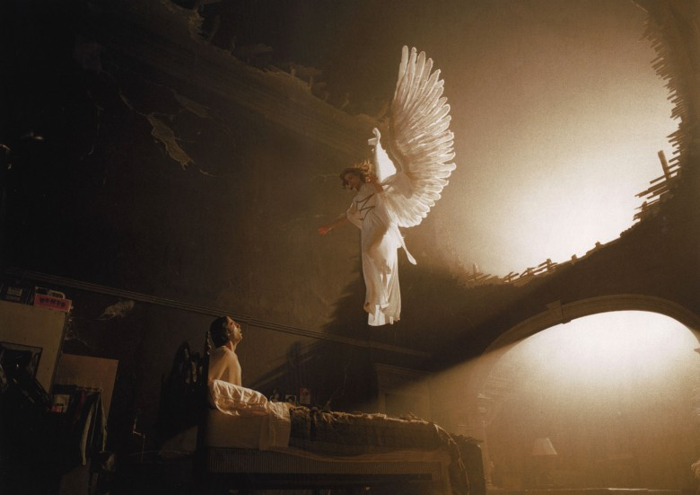 No Merchandising. Editorial Use Only. No Book Cover Usage.Mandatory Credit: Photo by Stephen Goldblatt/Hbo/Kobal/REX/Shutterstock (5879354f)Justin Kirk, Emma ThompsonAngels In America - 2003Director: Mike NicholsHboUSATelevision