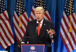 "SATURDAY NIGHT LIVE -- ""Felicity Jones"" Episode 1715 -- Pictured: Alec Baldwin as President Elect Donald J. Trump during the Trump Press Conference Cold Open on January 14th, 2017 -- (Photo by: Will Heath/NBC)"