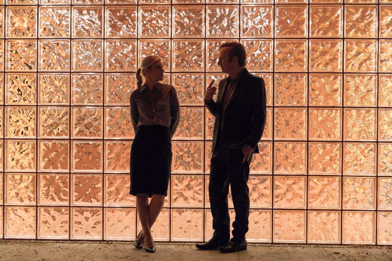Rhea Seehorn as Kim Wexler, Bob Odenkirk as Jimmy McGill - Better Call Saul _ Season 3, Episode 3 - Photo Credit: Michele K. Short/AMC/Sony Pictures Television