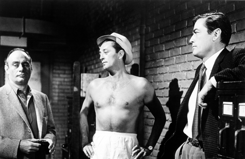 Cape Fear (1962)Directed by J. Lee Thompson Shown from left: Martin Balsam, Robert Mitchum, Gregory Peck