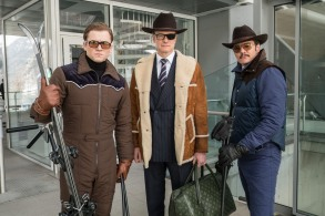 """DF-28050_r - Taron Egerton, Colin Firth, and Pedro Pascal star in Twentieth Century Fox's """"Kingsman: The Golden Circle,"""" also starring Julianne Moore, Channing Tatum, Mark Strong, Elton John, Halle Berry and Jeff Bridges."""