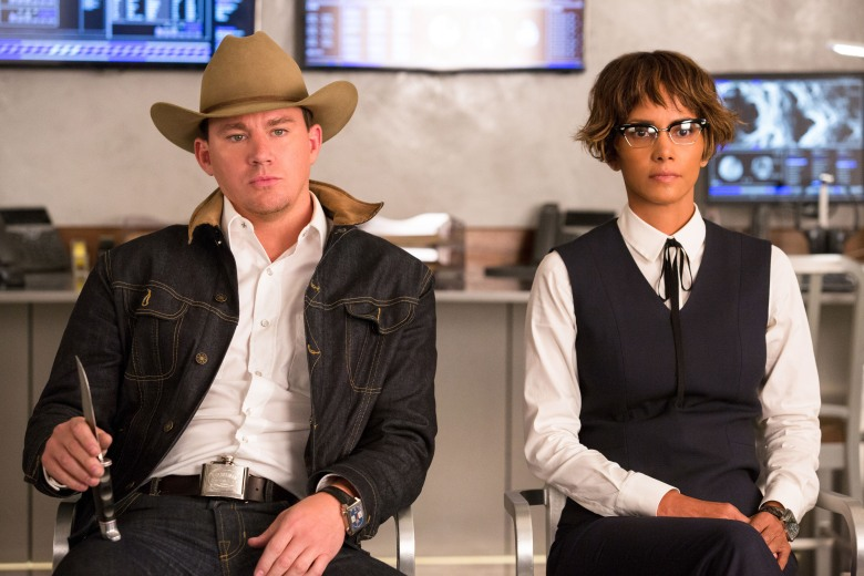 "DF-06320_R_V2 - Channing Tatum and Halle Berry in Twentieth Century Fox's ""Kingsman: The Golden Circle,"" also starring Colin Firth, Taron Egerton, Julianne Moore, Mark Strong, Elton John, and Jeff Bridges."