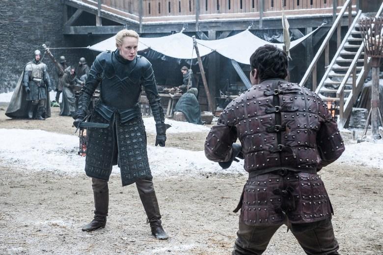 """Gwendoline Christie and Daniel Portman, """"Game of Thrones"""""""