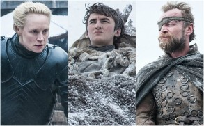 "Gwendoline Christie, Isaac Hempstead Wright and Richard Dormer, ""Game of Thrones"""
