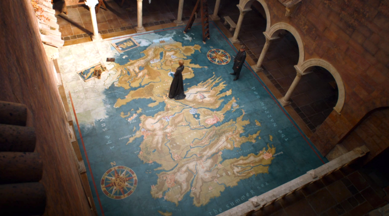 """Game of Thrones"" final map as seen on TV"