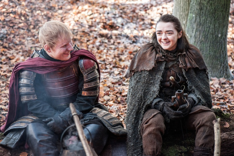 Game of Thrones Season 7 Episode 1 Ed Sheeran Maisie WIlliams