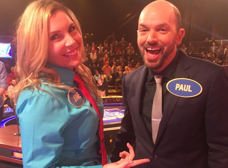 "June Diane Raphael and Paul Scheer, ""Celebrity Family Feud"""