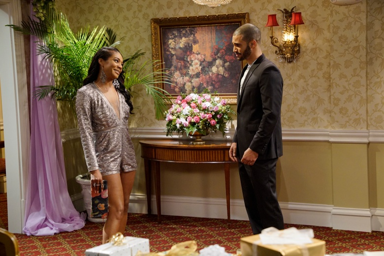 "THE CARMICHAEL SHOW -- ""Lesbian Wedding"" Episode 305 -- Pictured: (l-r) Tiffany Haddish as Nekeisha Williams, Nathan Owens as Todd -- (Photo by: Chris Haston/NBC)"