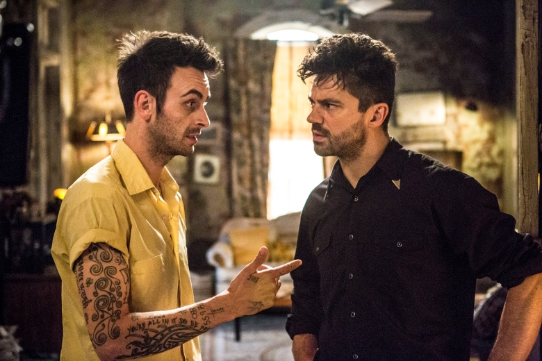 Joseph Gilgun as Cassidy, Dominic Cooper as Jesse Custer - Preacher _ Season 2, Episode 3 - Photo Credit: Skip Bolen/AMC