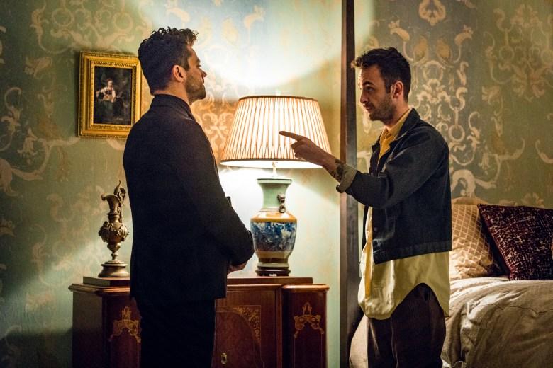 Joseph Gilgun as Cassidy, Dominic Cooper as Jesse Custer - Preacher _ Season 2, Episode 5 - Photo Credit: Skip Bolen/AMC