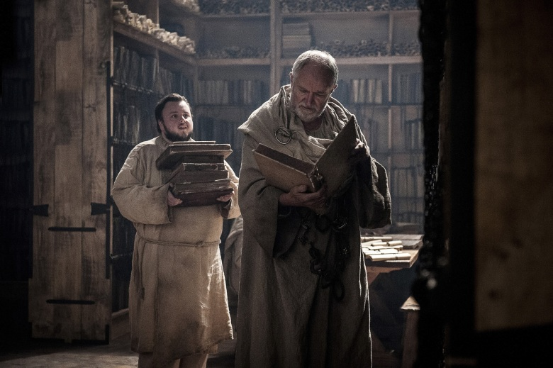 Samwell Tarly and Archmaester Game of Thrones Season 7 Episode 2