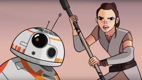 Rey and BB-8 in Star Wars Sands of Jakku