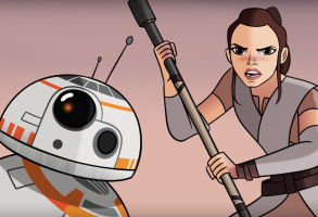 Rey and BB-8 in Star Wars Sands of Jakku