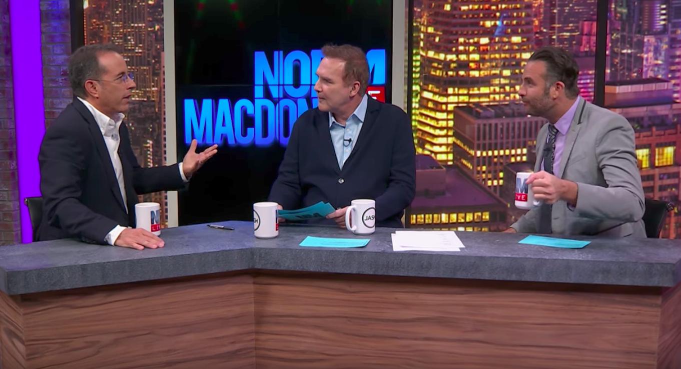 Jerry Seinfeld Tells Norm Macdonald 'The Greatest Jew Joke I've Ever Heard' — Watch