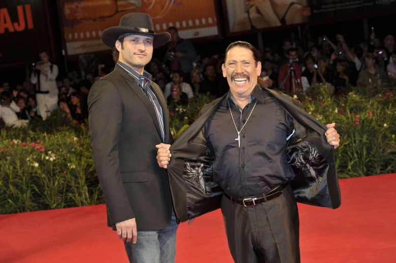 Director Robert Rodriguez, Danny Trejo'Machete' film premiere at the 67th Venice Film Festival, Venice, Italy - 01 Sep 2010