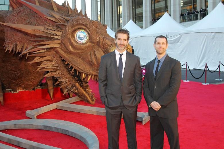 David Benioff and Dan Weiss'Game of Thrones' Fourth Season premiere, New York, America - 18 Mar 2014