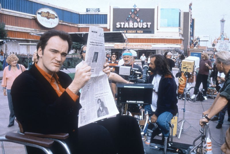 """Quentin Tarantino Behind-the-Scenes of """"Resevoir Dogs"""" (1992)"""