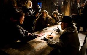 "Tarantino on set of ""The Hateful Eight"""