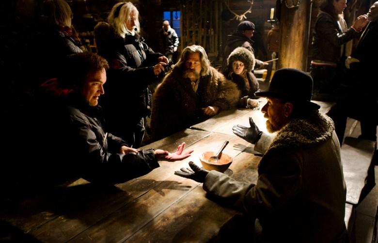 "Quentin Tarantino on set of ""The Hateful Eight"" (2015)"