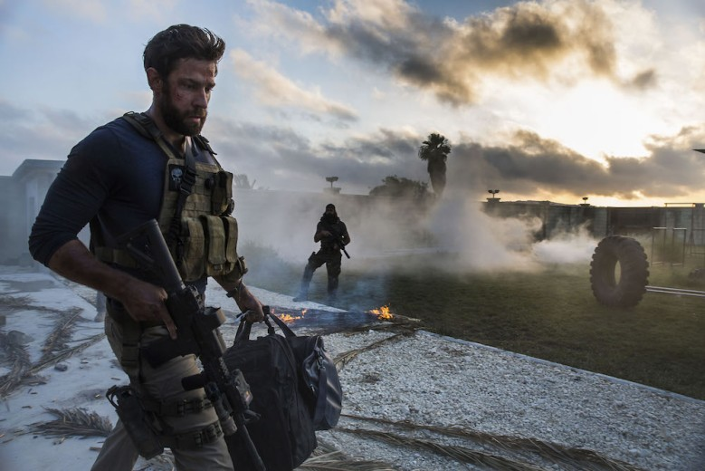 No Merchandising. Editorial Use Only. No Book Cover Usage.Mandatory Credit: Photo by Paramount/Kobal/REX/Shutterstock (5885392aq)John Krasinski13 Hours - The Secret Soldiers Of Benghazi - 2016Director: Michael BayParamount PicturesUSAScene StillWar