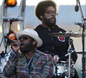 "The Roots' Tariq ""Black Thought"" Trotter, left, and Ahmir ""Questlove"" Thompson perform during an Independence Day celebration, in PhiladelphiaFourth of July, Philadelphia, USA"
