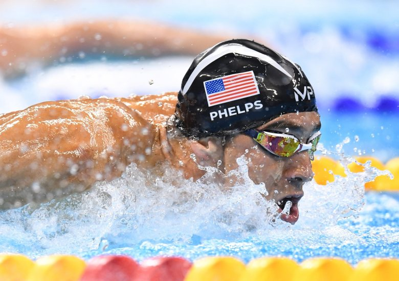 Michael Phelps of Usa Competes During the Men's 4x100m Medley Relay Final Race of the Rio 2016 Olympic Games Swimming Events at Olympic Aquatics Stadium at the Olympic Park in Rio De Janeiro Brazil 13 August 2016 Brazil Rio De JaneiroBrazil Rio 2016 Olympic Games - Aug 2016