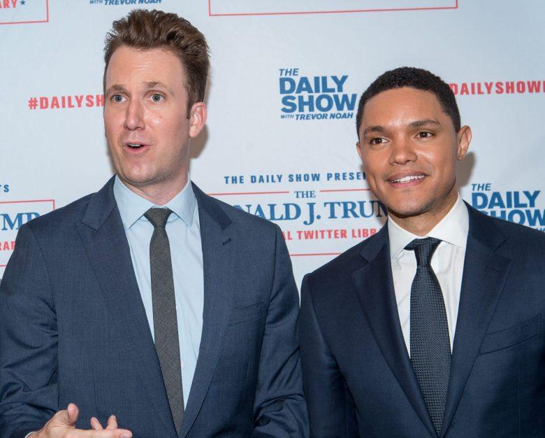 Roy Wood Jr.., Jordan Klepper, Trevor Noah and Hasan MinajThe Daily Show Presents: The Donald J. Trump Presidential Twitter Library, New York, USA - 15 Jun 2017