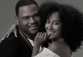 "BLACK-ISH - ABC's ""black-ish"" stars Anthony Anderson as Andre ""Dre"" Johnson and Tracee Ellis Ross as Rainbow Johnson. (ABC/Bob D'Amico)"