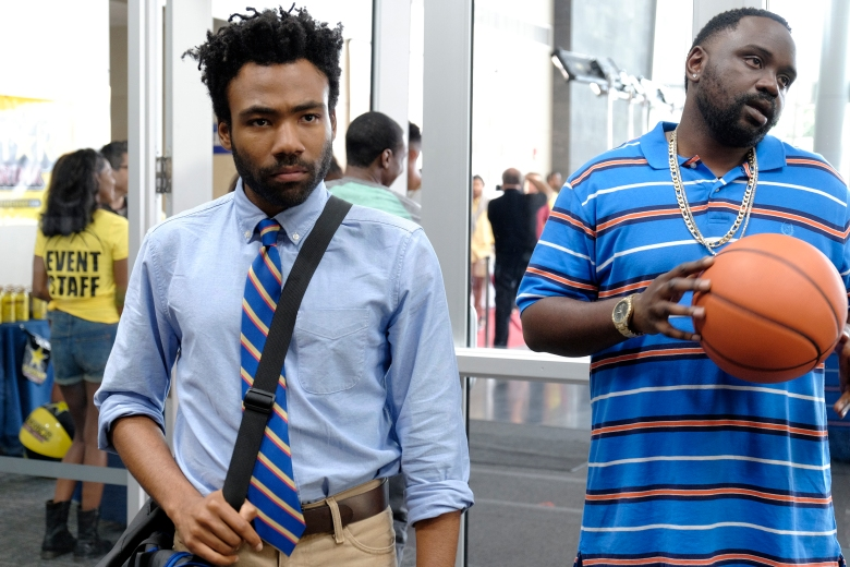 "ATLANTA -- ""Nobody Beats The Biebs"" -- Episode 105 (Airs Tuesday, September 27, 10:00 pm e/p) Pictured: (l-r) Donald Glover as Earnest Marks, Brian Tyree Henry as Alfred Miles. CR: Guy D'Alema/FX"