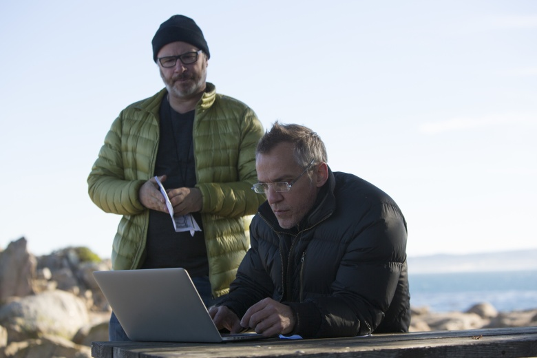 """DP Yves Bélanger with director Jean-Marc Vallee on the set """"Big Little Lies"""""""