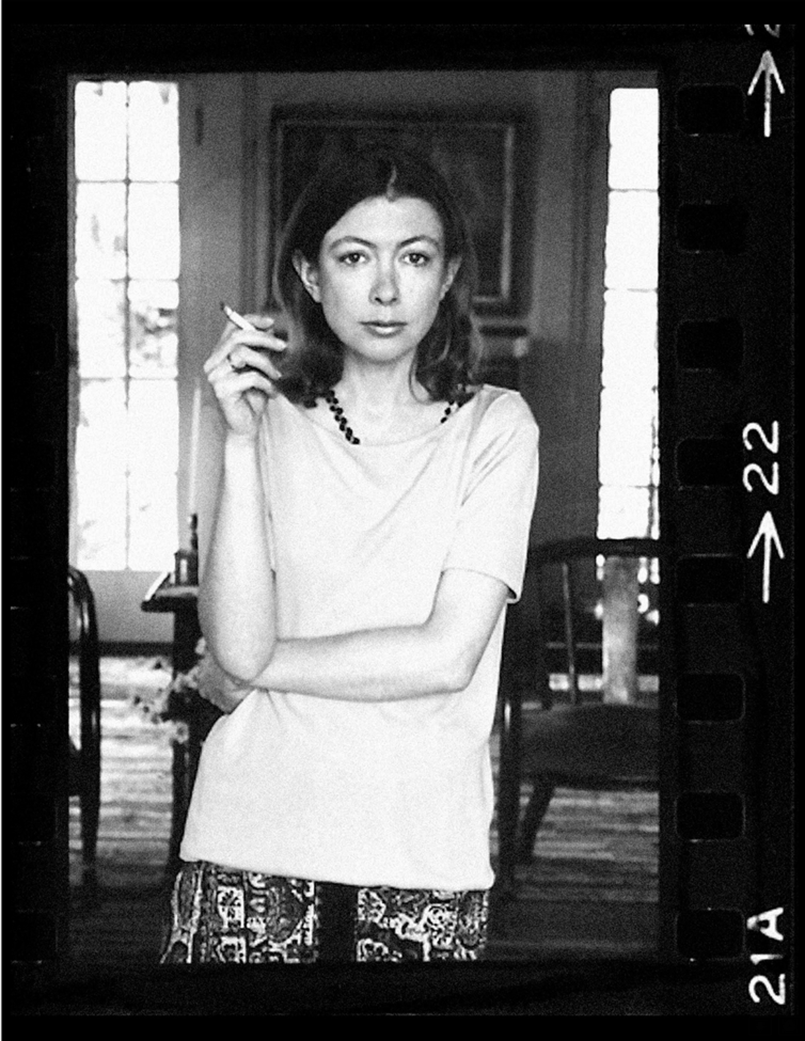 Author Joan Didion at home in Hollywood.