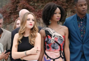 "Elizabeth Gillies, Wakeema Hollis, and Sam Adegoke, ""Dynasty"""
